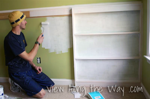 Painting Trim Color on a Front-Facing Bookshelf Wall