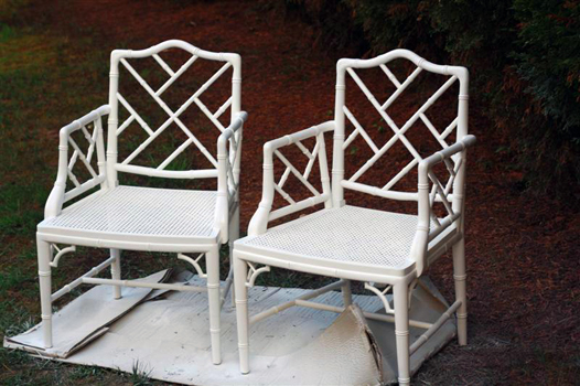 Repainted antique chinese chippendale chairs, antique furniture
