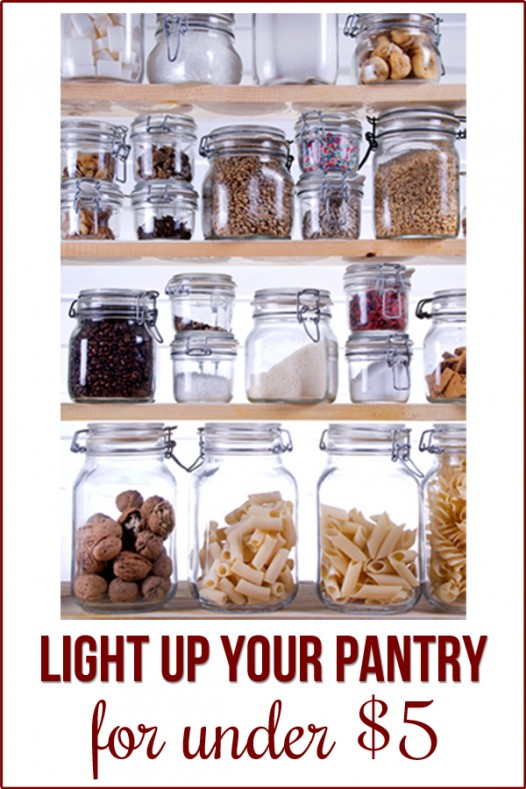 So easy to light your small closet--pantry with this $4 solution!