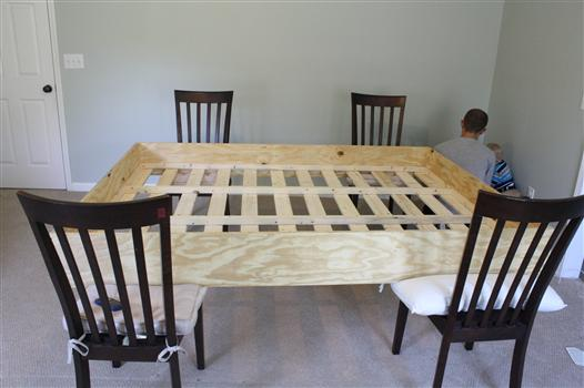 how to upholster a wooden bed frame 2