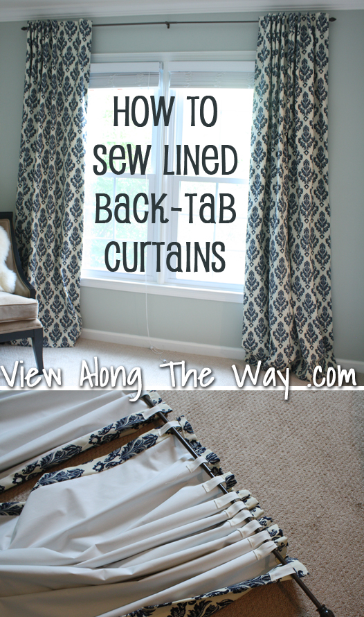 Tutorial How To Sew Lined Back Tab Curtain Panels Drapery Drapes
