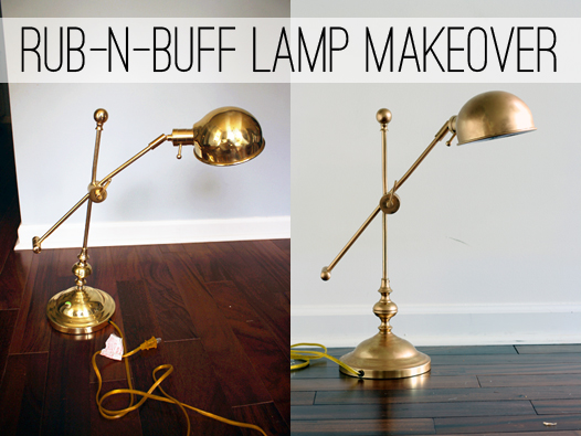 Make an ugly, shiny brass lamp look like antiqued bronze with rub-n-buff
