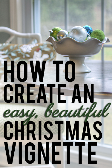 How to create an easy, beautiful Christmas vignette, easy Christmas decorating