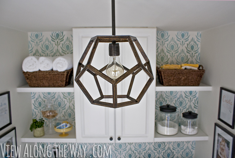 DIY pendant light made to look like an expensive designer chandelier!