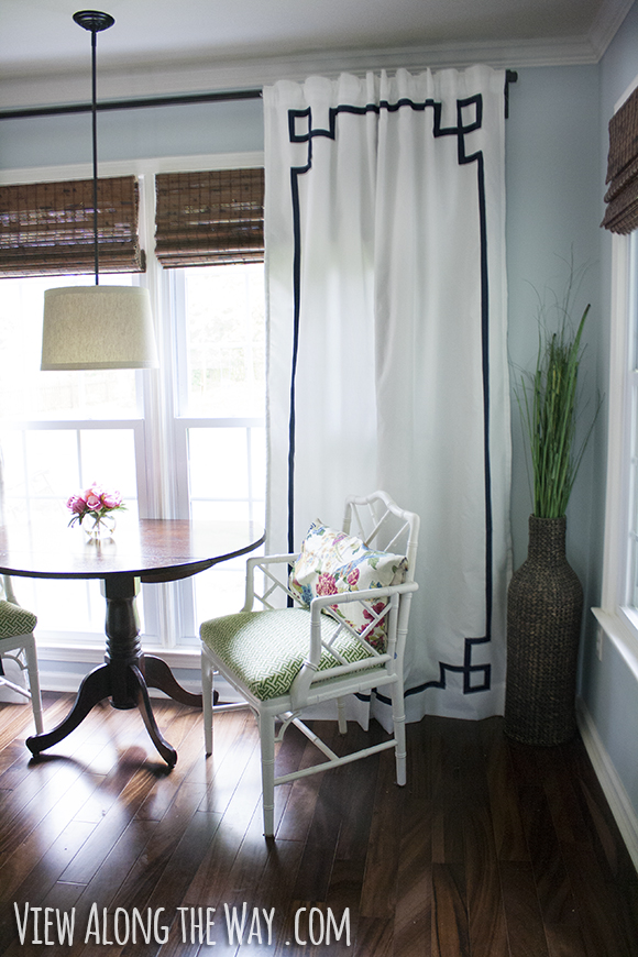 DIY no-sew Greek Key Curtain Panels
