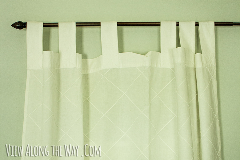 How To Make Tab Top Curtain Panels DIY Tab Top Curtains