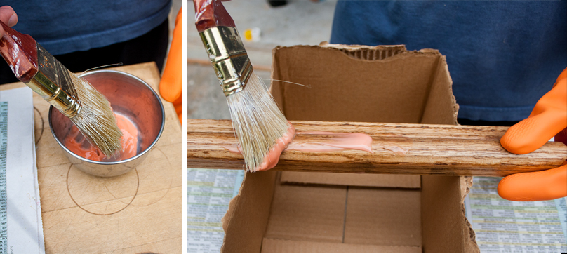 How to use wood stripper to stain wooden railings