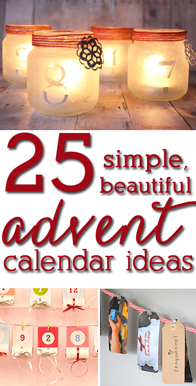 SO many awesome advent calendar ideas you can make in a couple hours! Can not wait to try these!