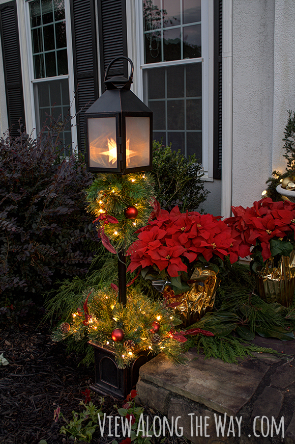 Our Christmas Porch The Home Depot Challenge View