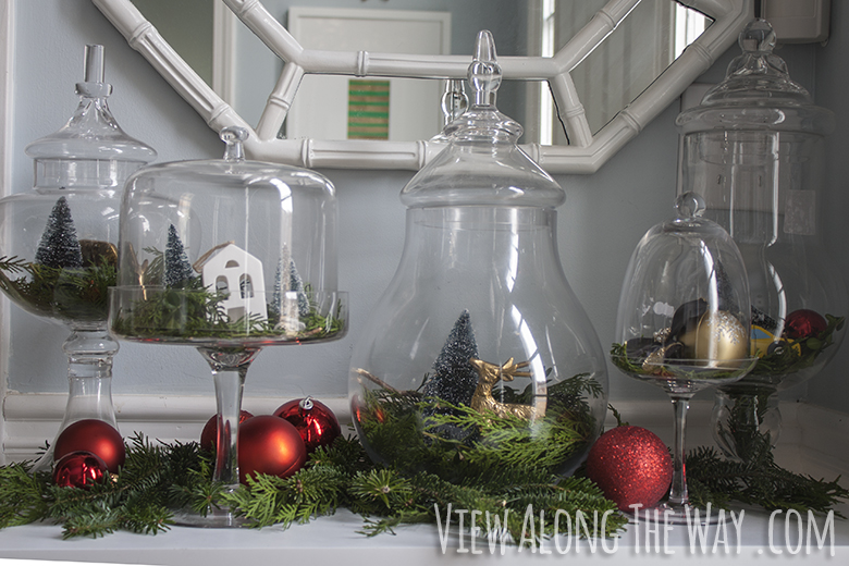 Apothecary village - fill glass jars with little Christmasy scenes!