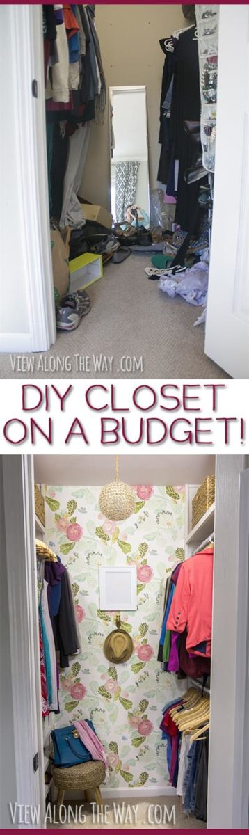TONS of budget-friendly closet makeover ideas you can steal for your house! Check out this post!