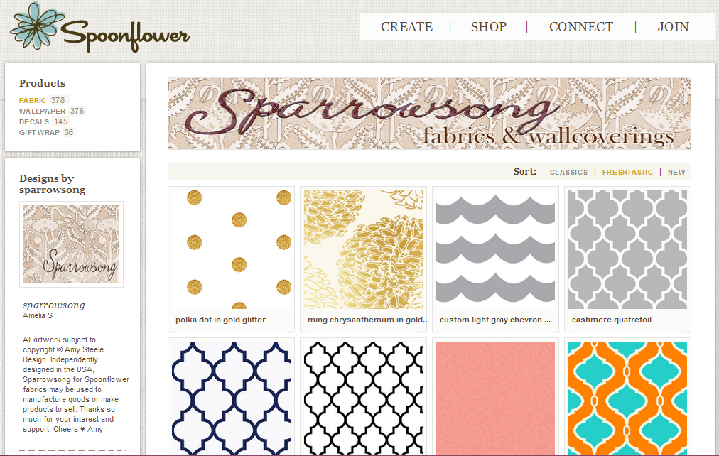 Sparrowsong on Spoonflower
