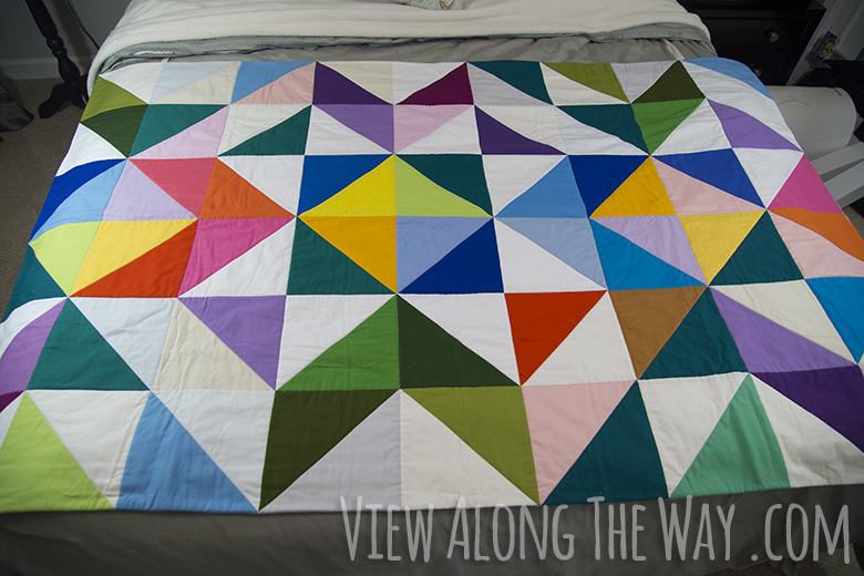 Modern colorful quilt