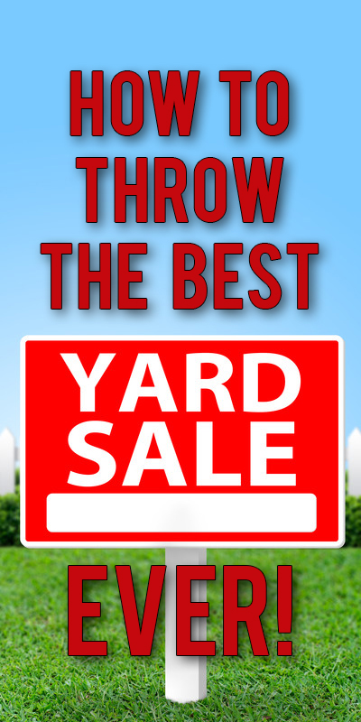 Yard Sale Shopping Tips! Make more money with less work!