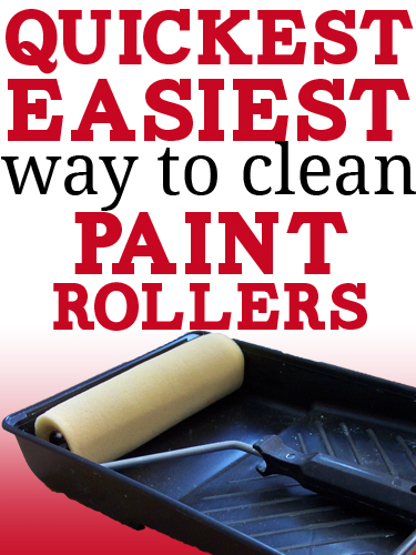 How to clean a paint roller the quick easy kinda messy - How to clean house exterior before painting ...