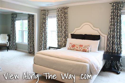 Master Bedroom Curtain Reveal - * View Along the Way *