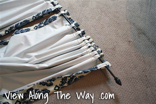 DIY Back Tab Curtain Drapery Panels