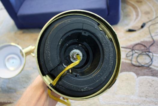 Make It Battery Ed Nut On Bottom Of Lamp