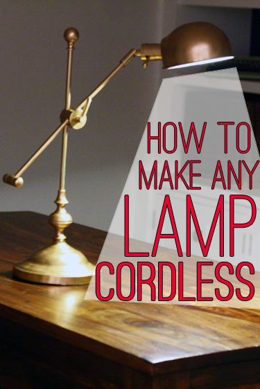 How to Make a Shaded Lamp Cordless - * View Along the Way *