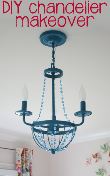 DIY Chandelier Makeover at View Along the Way