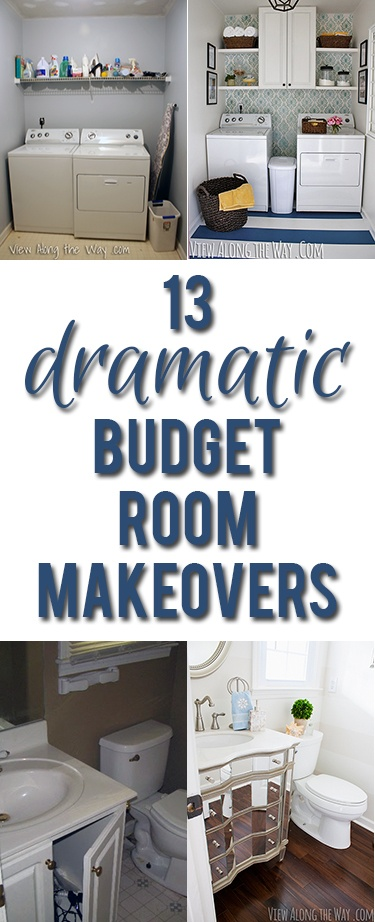 Inspiring before-and-after room reveals you can recreate on a budget! SO many cool DIY ideas!