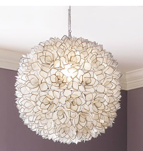 timeless design e8aca 687b4 How to Make a DIY Hanging Capiz Shell Pendant Chandelier