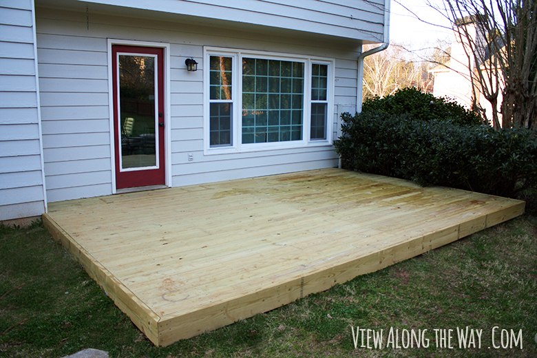 New Wooden Deck At View Along The Way