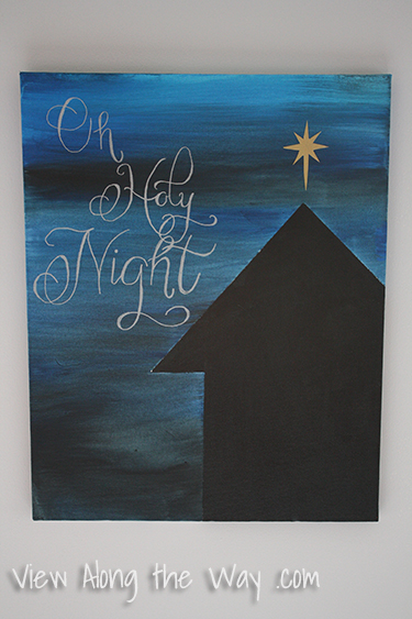 Oh Holy Night DIY Christmas Canvas Art