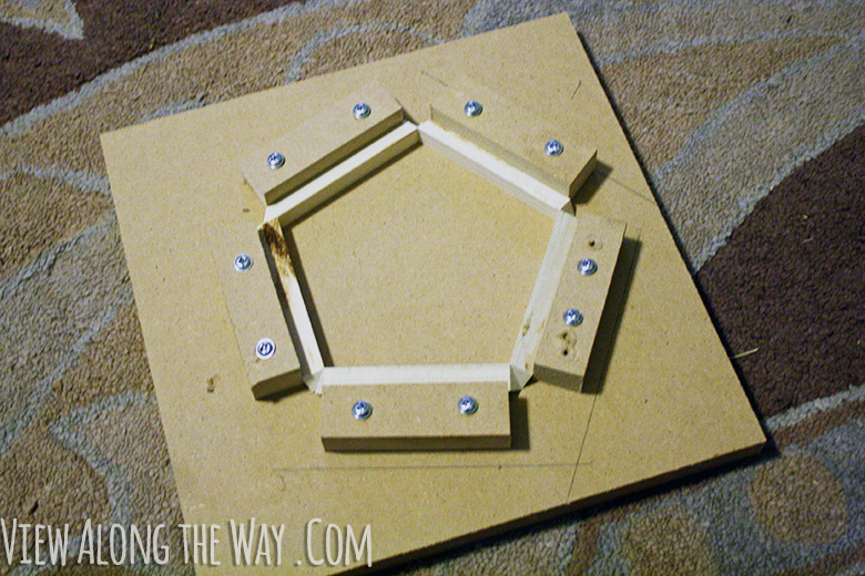 How to make a jig to glue together your own pendant light