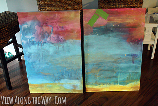 How to make a herringbone art piece easy and fun painted abstract canvases acrylic on canvas solutioingenieria