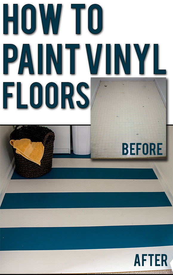 How to Paint Vinyl Floors: easy step-by-step instructions for updating old flooring