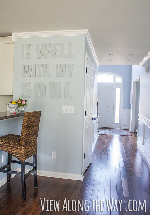 Use canvas letters to decorate an awkward wall space! (And come read this amazing story!)