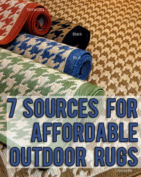 7 Sources for inexpensive outdoor rugs