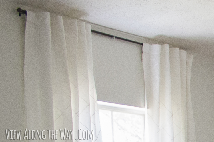 Turn Tab Top Curtains Into Hidden