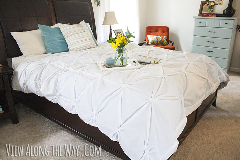 Stunning Make your own pintuck duvet with two flat sheets Simple and cheap