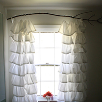 Hang Curtains From A Branch