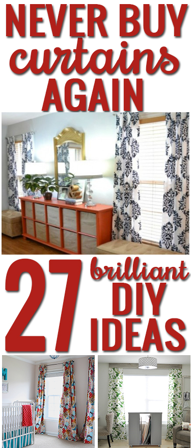 How to make your own curtains 27 brilliant diy ideas and tutorials creative ideas to make your own curtains and curtain rods so many inspiring ideas solutioingenieria Images