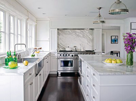 ... Thumbing The Pages Of Home Design Magazines And Knew Exactly What I  Wanted: White Cabinets. Dark Floors. Everything Smothered In Carrera  Marble. Kitchen
