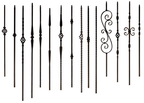 Iron Baluster Options For Stair Railing