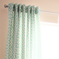 How To Sew Unlined Curtains And Hang From Tabs
