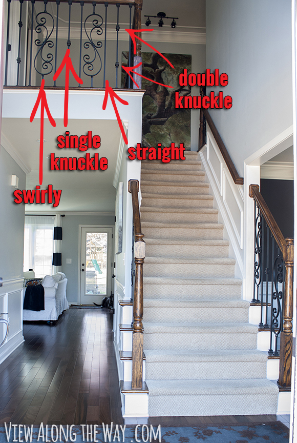 Types of iron balusters