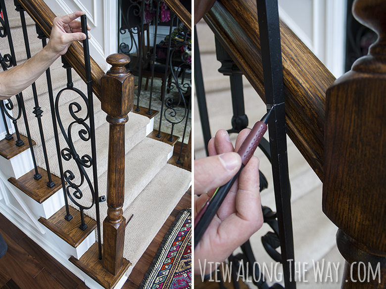 How To Install Iron Balusters: Cut The Baluster To The Right Length