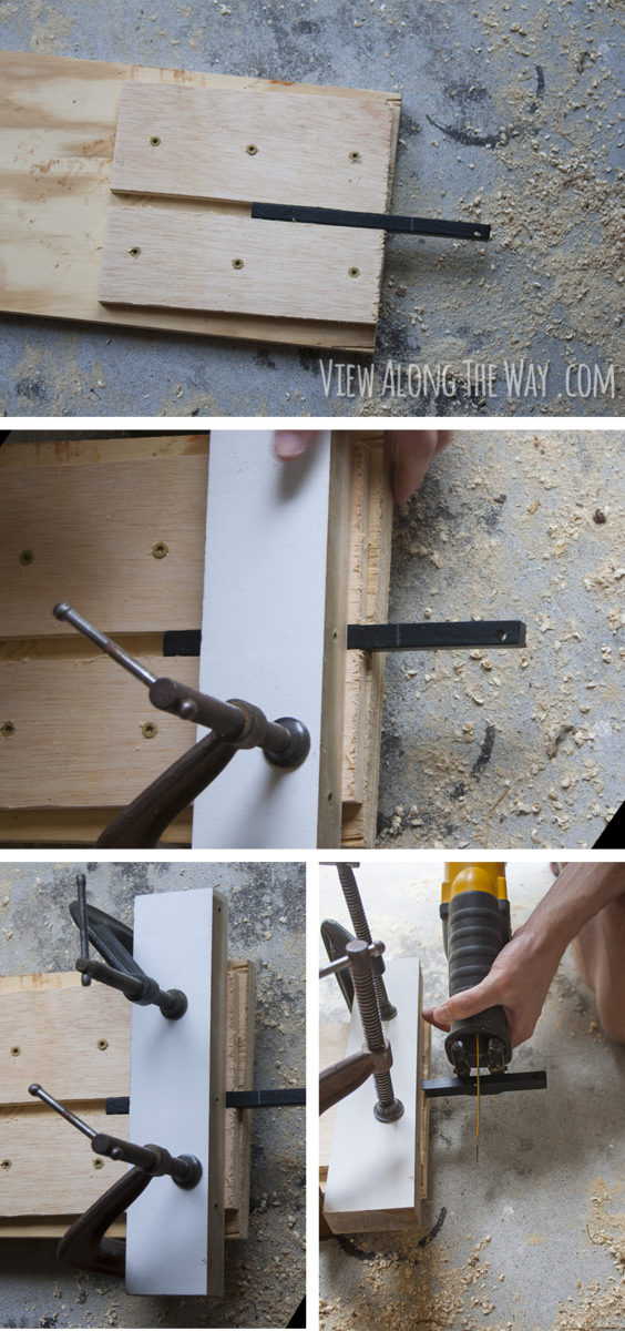 Jig to cut iron balusters
