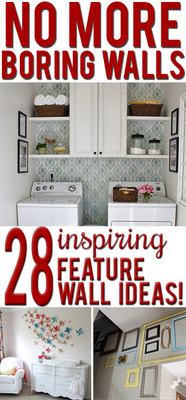 Creative DIY feature wall ideas