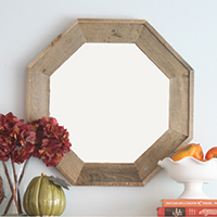 DIY wooden mirror, plus TONS of creative, beautiful #DIY #art ideas!