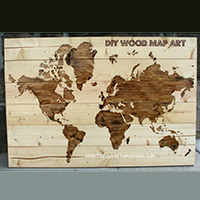 DIY wood map art - so beautiful! (LOTS of creative DIY art ideas on this page!)
