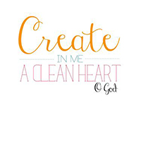 'Create in me a clean heart' free printable verse art! Great for a laundry room or kitchen! (Plus check out the brilliant DIY art ideas on this site!)