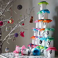 Stacked can advent calendar! And I LOVE all the other beautiful, creative advent ideas on this site!