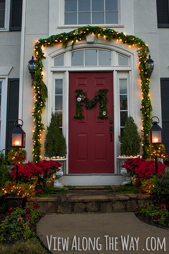 our christmas porch the home depot challenge view along the way - How To Decorate Your Door For Christmas