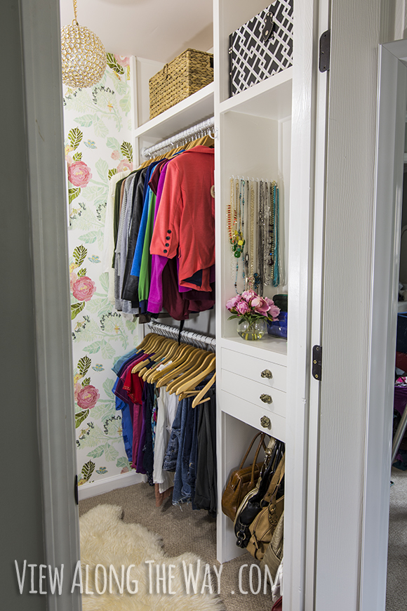 how to build custom closet shelves view along the way